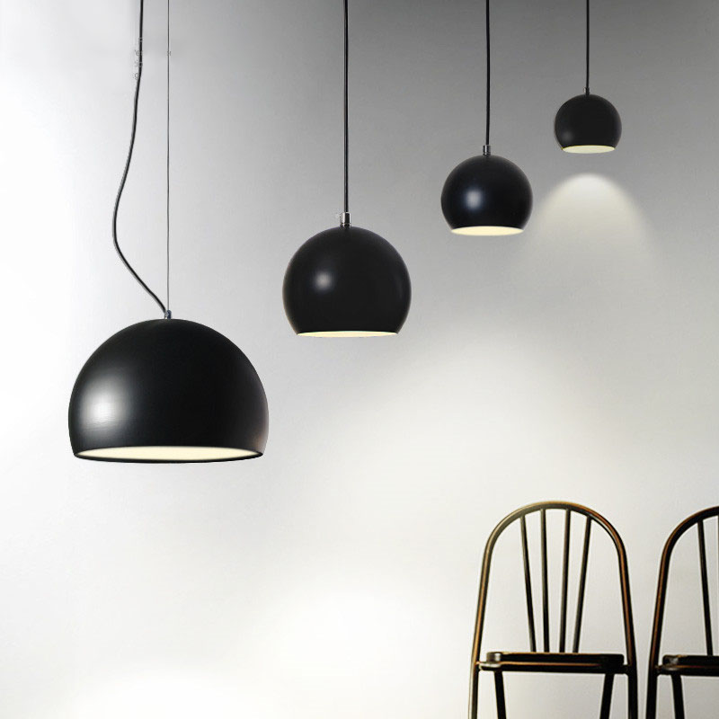 Modern Simple Personality Creative Restaurant Single Head Pendant Light Cafe Bedroom Study Bar Semi-circular lamp Free Shipping zx modern round acryl pendant lamp simple restaurant led chip droplight single head study bar shop office lamp free shipping
