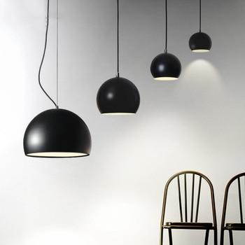 Modern Simple Personality Creative Restaurant Single Head Pendant Light Cafe Bedroom Study Bar Semi-circular lamp Free Shipping