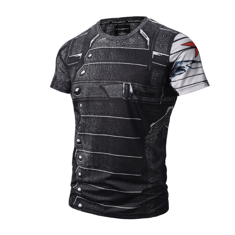 New Bucky Barnes Winter Soldier 3D Print T-shirt Sexy Pullover Tights Tee Shirts Short Casual Homme Kid Uniform Tops Marvel