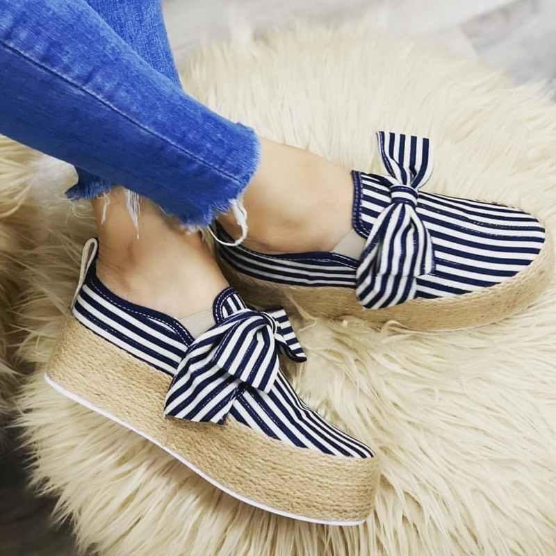 WENYUJH 2019 Frauen Wohnungen Schuhe Plattform Turnschuhe Leder Wildleder Damen Loafers Slip Auf Bögen Wohnungen Mokassins Casual Schuhe