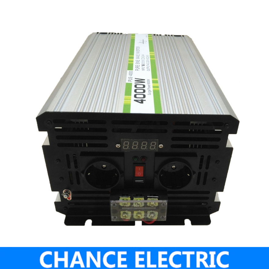 4000W/8000W Pure Sine Wave Inverter DC 12V 24V 48V to AC 110V 220V,Off Grid Inversor Portable 4000W/8000W Power Inverter dc to ac off grid tied pure sine wave 48v dc 220v ac power inverter 4000w peak 8000w
