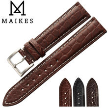 MAIKES Luxury Alligator Watch Band Case For IWC Chopard Longines Genuine Crocodile Leather Watch Strap Top Quality Watchbands все цены