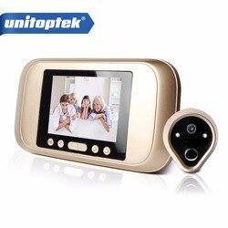 HD 720 P 3,2 светодиодный цветной экран видео дверной звонок телефон цифровой дверной просмотр умный глазок камера Дверной звонок с функцией но...