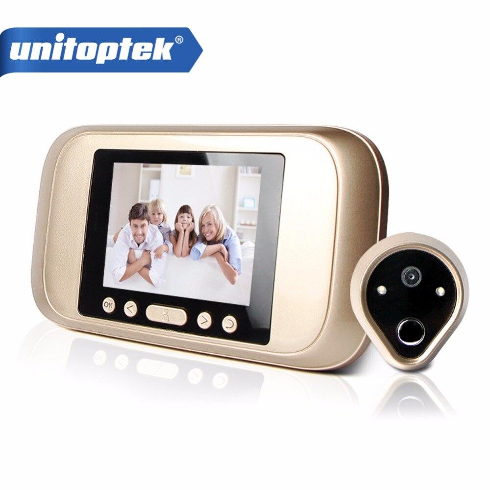 HD 720P 3.2 LED Color Screen Video Doorbell Phone Digital Door Viewer Smart Peephole Camera Night Vision Doorbell