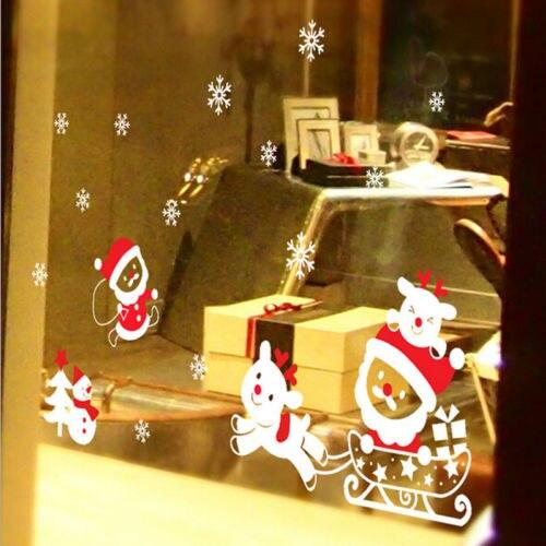 Christmas White satan Snowflakes Wall Stickers Window Glass Decals ...