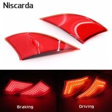 Niscarda 2 шт для Lexus IS250 IS300 IS350 2014 2015 2016 светодиодный задний бампер отражатель светло-красный автомобиль Drive Тормозная туман отделкой задний фонарь