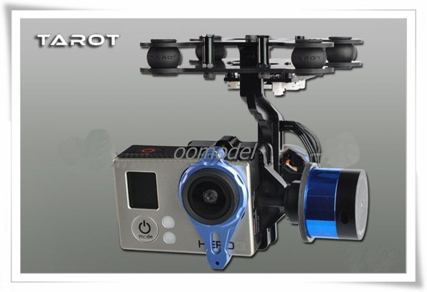 Tarot G-2D Gopro Brushless Gimbal with Gyro TL68A00 Tarot 2 axis Camera Mount Tarot Multirotor Spare Parts FreeTrack Shipping f11088 walkera camera mount g 3dh brushless gimbal with 360 degrees tilt control
