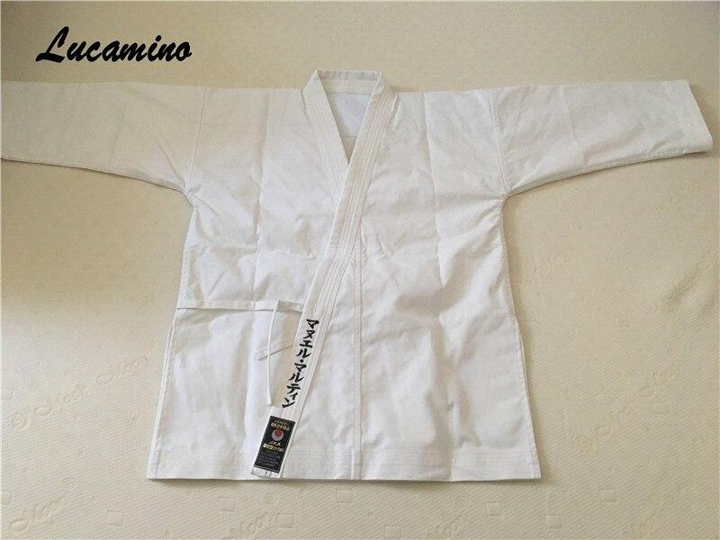 Kata karategi GI japon Tokyodo uniformes de karaté, rayures toile dure qualifiée marque de karaté professionnel JKA JKS etc.