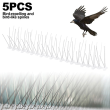 5PCS Stainless Steel Bird and Pigeon Spikes Anti Bird Anti Pigeon Spike for Get Rid of Pigeons and Scare Birds Pest Control