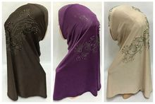 2015 Muslim hijab scarf new style brand scarf latest ice silk drill Pearl Flower hijab fashion scarf women free shipping