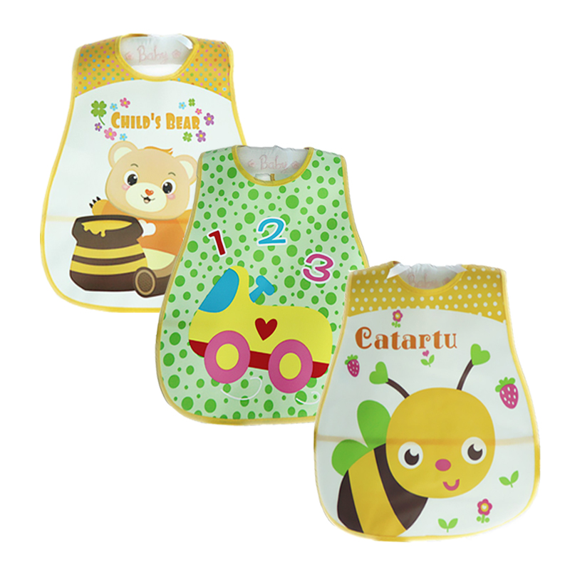 3 kos / lot mati Nest Baby Bibs nepremočljiv Babador Baberos Cartoon Style Baby Girls Fantje in Burp krpe
