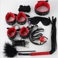 2018 New 10PCS/LOT New Leather bdsm bondage Set Restraints Sex for Couples Woman Slave SM Sexy Erotic Toys Handcuff