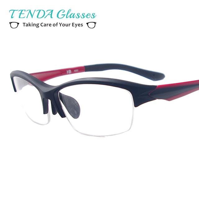7e06282be3b TendaGlasses Big Men Sports Half Rim Eyewear Rectangular Lightweight Frames  For Prescription Lenses