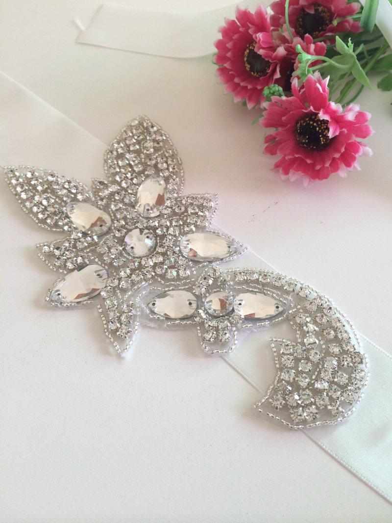 2015 Professional Wedding Dress Sash Rhinestone Applique Bridal Belt Crystal Appliques Trim For Wedding Dresses Belt RA194