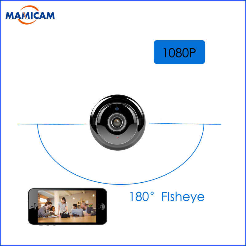 1080P Button Mini Wireless Camera Wifi Two-way Voice Indoor IR-CUT Night Vision CCTV Home Security IP Camera Wi-fi 180 Fisheye