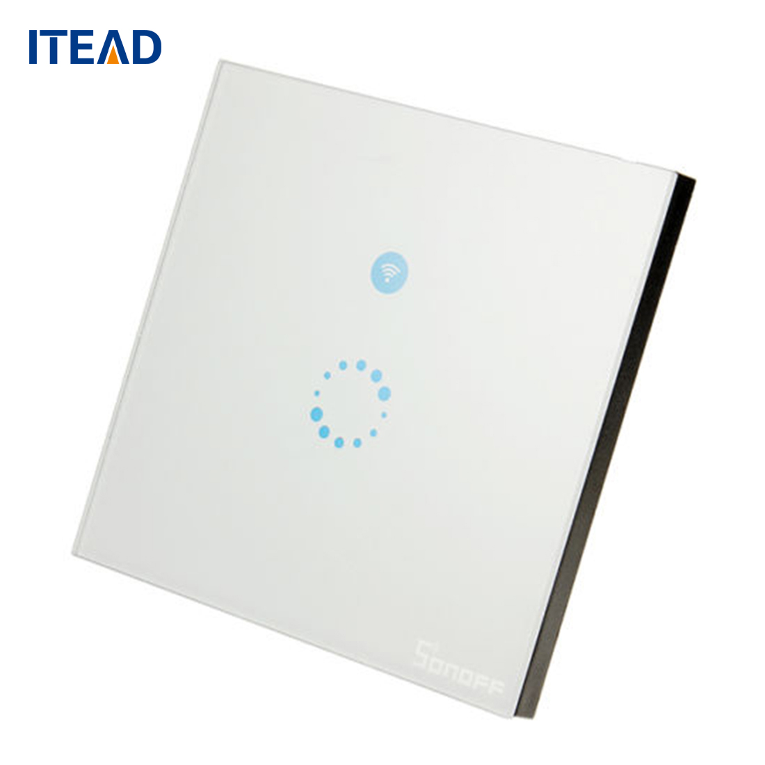 ITEAD Sonoff EU/US Plug Wifi Wireless Touch Remote Control Tempered Glass Switch Panel LED Light Wall Switch itead sonoff touch switch eu us standard 1gang 1 way crystal glass wall touch switch remote control light switch for smart hom