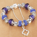 HOMOD Crystal Charm Bracelets for Women With Murano Beads fit Brand Bracelets&Bangles Femme Jewelry For Mother Gift