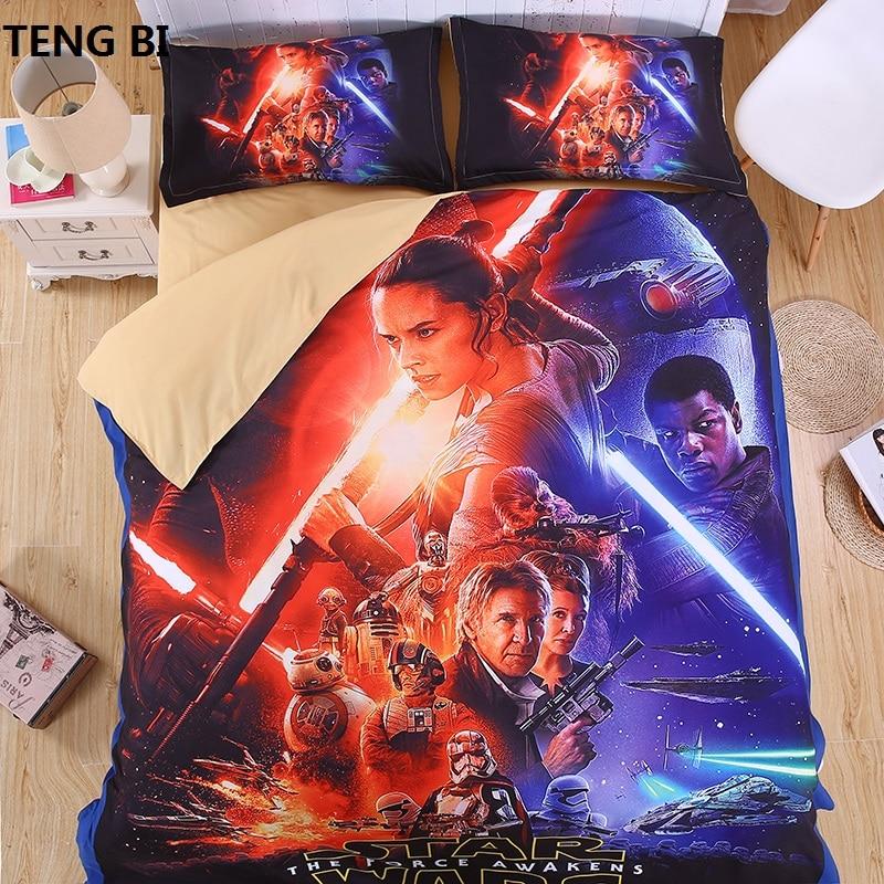 Star Wars 3D Set posteljine Print Duvet cover Dvostruka kraljica kralj Lijep uzorak Pravi učinak prirodan posteljina platno