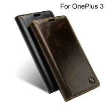 One Plus 3 Luxury Brand Flip Cover For OnePlus 3 Case Genuine Real Leather Wallet Card Holder Original Phone Case Three