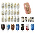 108Pcs Gold Silver 3D Nail Art Stickers Nail Decoration Design Brand Foils Beauty Stickers For Nails Accessories Decals Tools