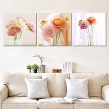 3 Pieces Modular Flowers Trees Pictures Prints Wall Art Canvas Decor