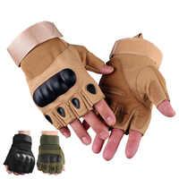 Demi-doigt extérieur gants tactiques anti-dérapant travail gants de sécurité pour le Sport en plein air chasse vélo équitation CS Protection des mains