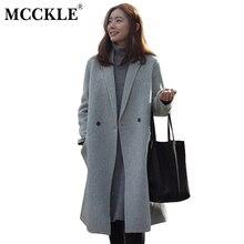 MCCKLE Femmes Automne Hiver Manteaux Vestes chaud Coton Rembourré laine  mélanges solide Surdimensionné de Haute Qualité ed9c2b0ac6aa
