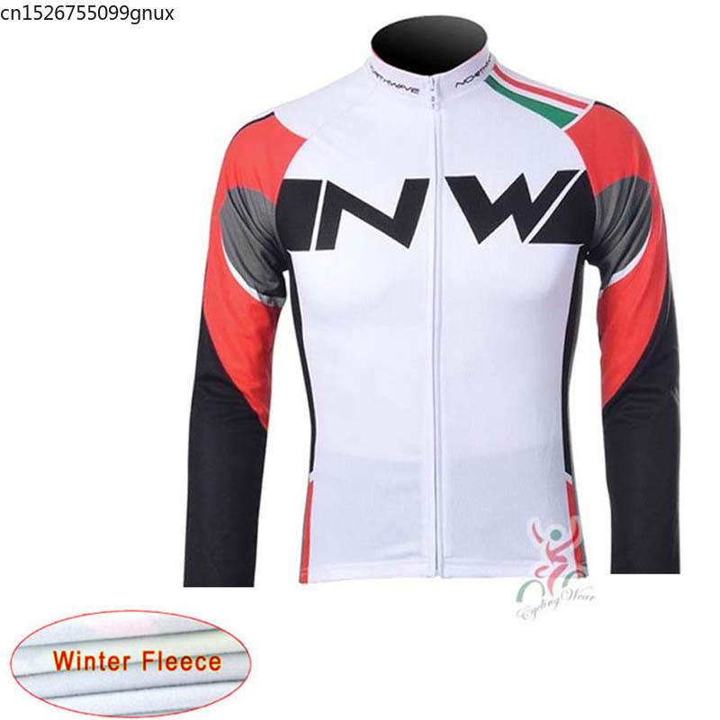 NW 2019 new Winter Thermal Fleece Cycling Jersey Long Sleeve Bicycle Wear Bike Cycling Clothing Maillot Ropa Ciclismo Hombre C28(China)