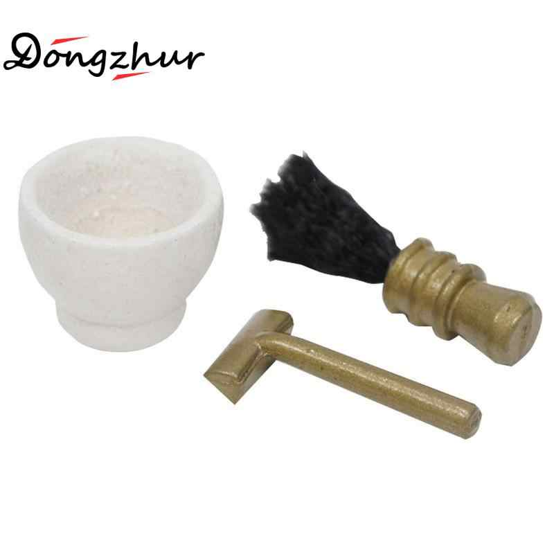 Dongzhur Dollhouse Miniatures 1:12 Accessories Cute Mini Razor Dolls Bathroom Mini Miniature Model Wash Accessories Razor Suit