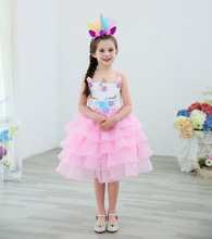 Girl  Easter Unicorn Party Princess Dress Cinderella Elsa Carnival Costume Wedding