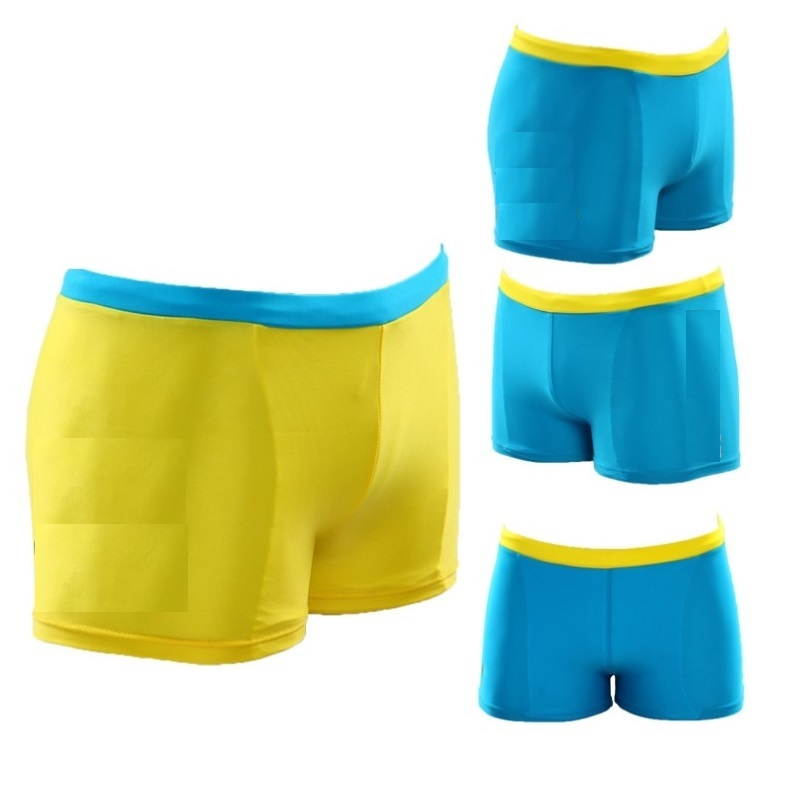 Blue Yellow Boys Swim Trunks Children Swimming Wear Trunk Beach Shorts 2-12year Kids Swimwear Swimsuits