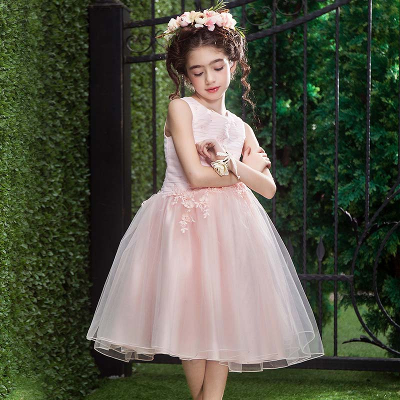 The girl new princess dress summer for size 4 5 6 7 8 9 10 11 12 13 14 15 16 years in middle child long vest dress show costume girl dress autumn white long sleeved clothes korean cotton size 4 5 6 7 8 9 10 11 12 13 14 years kids blue lace princess dress