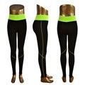 New Fashion Women's Slimming Foldover Flare  Pants Fitness Power Flex Sport Leggings gym leggings 5 colors