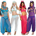 2016 New Fashion  Sexy GENIE Jasmine Aladdin Princess Costume Fancy Dress Arabian Belly Dancer Dress