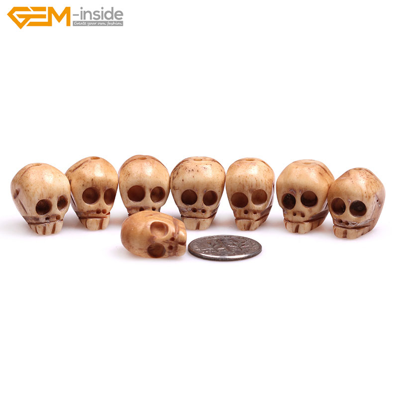 Gem Inside 14x17mm Natural Carved Antique Bone Skull Beads For Halloween Jewelry Making Decoration Sphere Bulk 8pcs Diy Skull Beads Bone Skull Beadsbeads Skull Beads Aliexpress