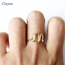 купить New Design Simple Letter Rings For Women Gold Silver Color Ring Femme Statement Party Charm Jewelry Gifts Adjust Size по цене 126.72 рублей