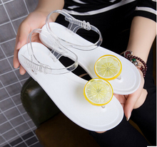 Hot 2017 summer lemon flat with female sandals flat sweet sweet jelly beach shoes students female folder toe flip flops недорого