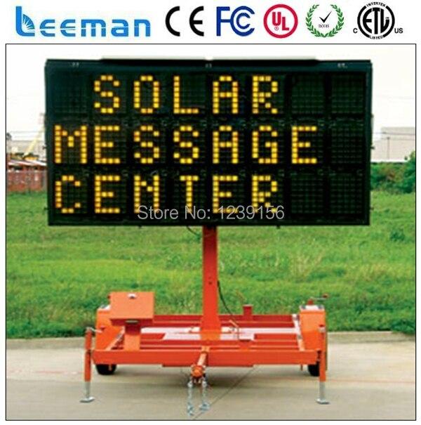 Из светодиодов полный матрица трафика зис прицеп с 12 В солнечной энергии питания из светодиодов реклама автомобиля смарт-мобильный из светодиодов щит трейлер