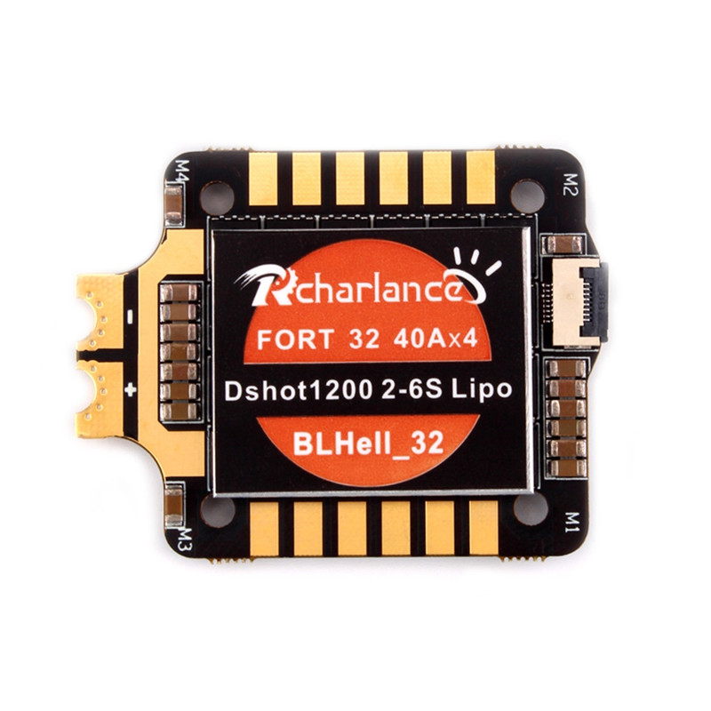 Racharlance Fort32 40A BLheli_32 2-6S DShot1200 4In1 ESC w/ Current Sensor for RC Drone полусапоги chic & swag chic & swag ch034awvoa05