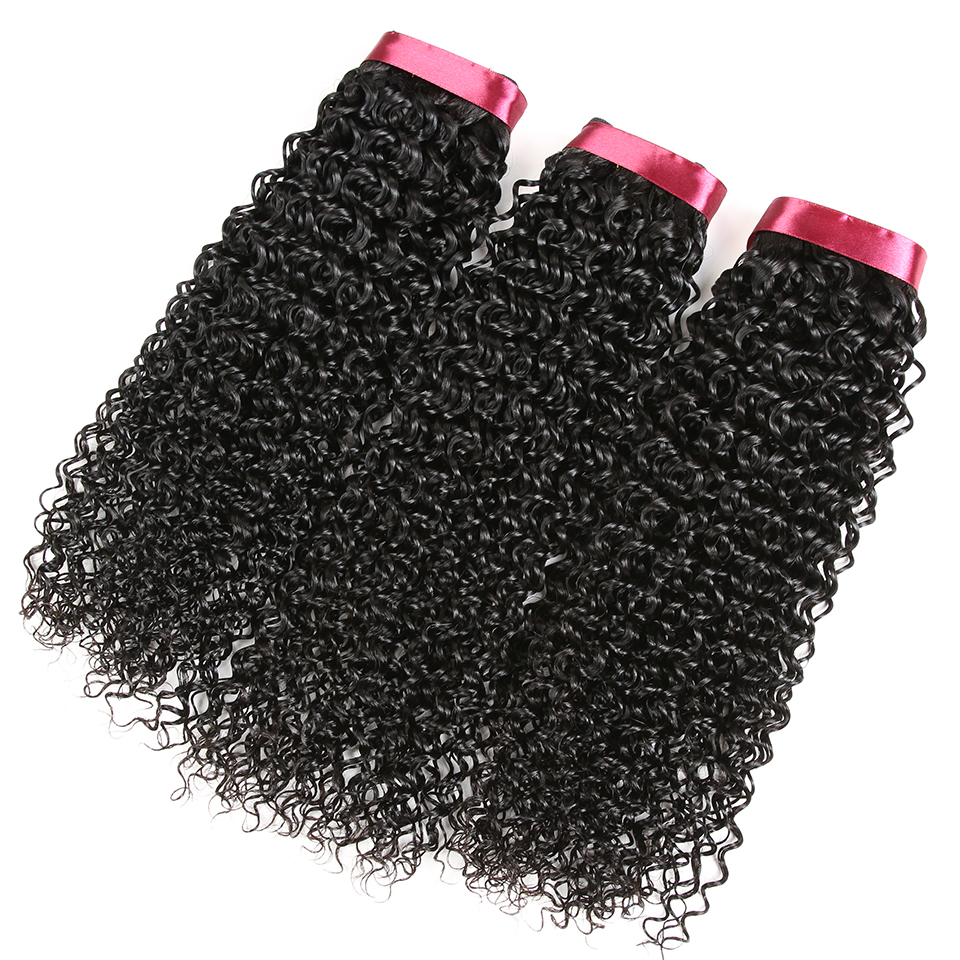 Karizma Raw Indian Kinky Curly Hair 3 Bundles Deal 100% Human Hair Bundles Weaving Non Remy Hair Extensions Can Be Dyed No Shed