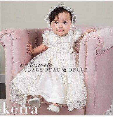 Robe de baptême pour bébé fille dentelle petites filles 1 an 2 robe d'anniversaire robes de baptême nouveau-né infantile robes de fête blanches