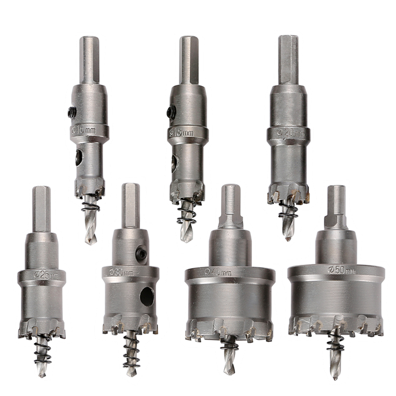 Core Drill Bit Carbide Steel 16-100mm Hole Saw Cutter Bit For Stainless Steel Plate Iron Metal Cutting Drilling Power Tools 13pcs 16 53mm core drill bit holesaw metal cutter cutting used for stainless steel iron aluminum alloy metal hole saw hand tool