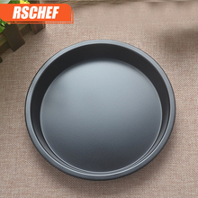 1pcs Thick 6/7/8/9/12/13-inch Carbon Steel Non-Stick Pizza Dish Round PIZZA Plate DIY Home Baking Tray Baking Mold Oven