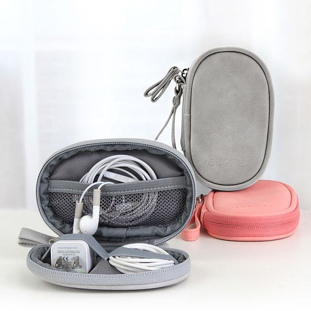 Travel Accessories Packing Organizers Sheepskin Small bag Grain Headphone Cases Mobile Phone USB Cable U Disk Organizer Packing