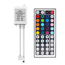 Led Controller 44 Keys LED IR RGB Controler LED Lights Controller IR Remote Dimmer DC12V 6A For RGB 3528 5050 LED Strip 1 10pcs lot usb rgb remote controller 5 24v ir 24key wireless led dimmer 4pin female connector for 5050 3528 rgb led usb strip