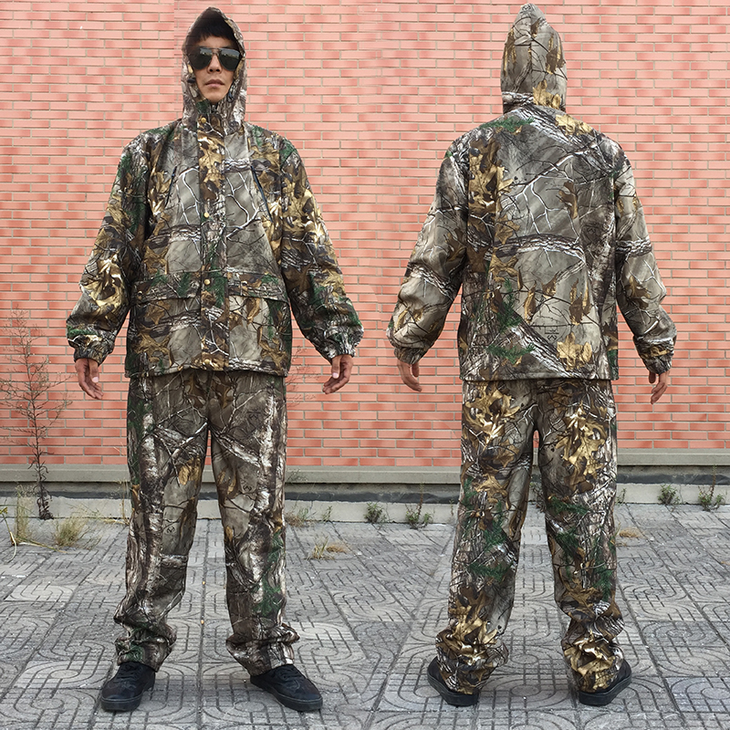 Men Bionic Camouflage Hunting Suit Ghillie Suit Men Hunting Clothing Camouflage Clothes Jacket Pants Hat Gloves Men Camo Parkas цены онлайн