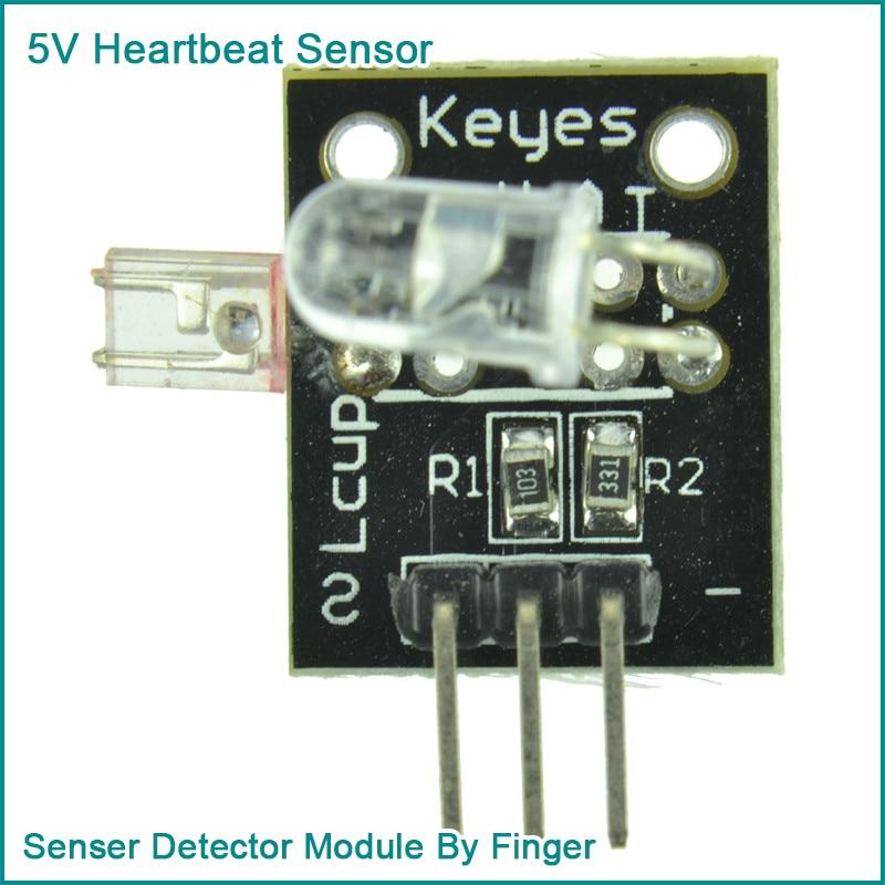 5V Heartbeat Sensor Senser Detector Module By Finger For Arduino