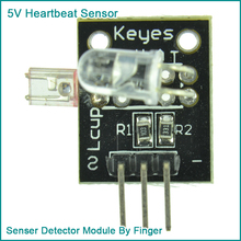 5V Heartbeat Sensor Senser Detector Module By Finger For Arduino