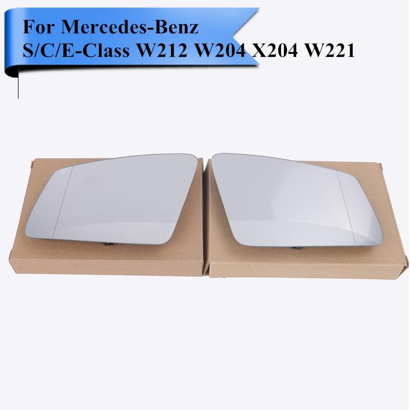 Prix pour Voiture Extérieur Chauffée Porte Miroir En Verre avec Support Plaque Aveugle Ligne Pour Mercedes Benz S/C/Classe E W212 W204 X204 W221 # W117