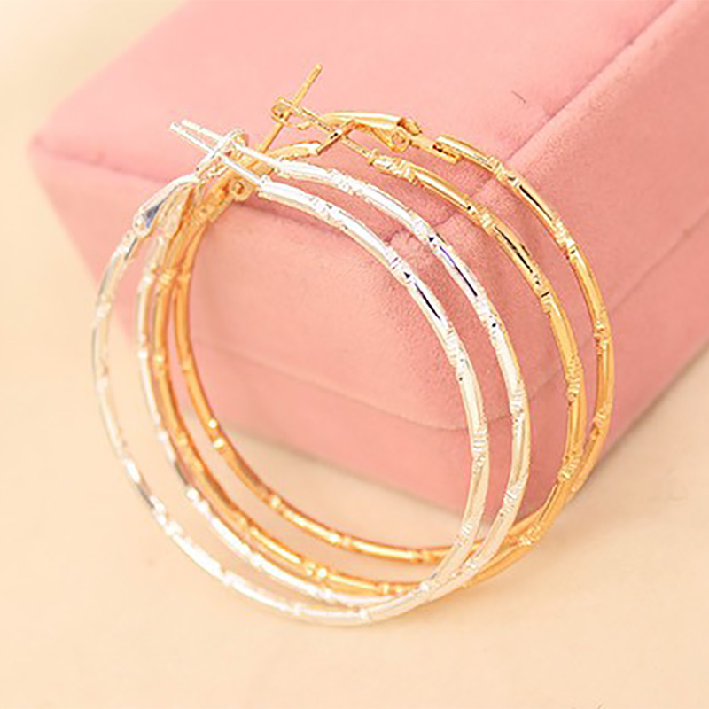 Big Circle Gold Silver Hoop Earrings Women Large Round Loop Earring Fashion Jewelry Accessories Basketball Wives Pendientes